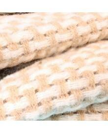 Плед Шерсть Рогожка 170х210 см бел-беж